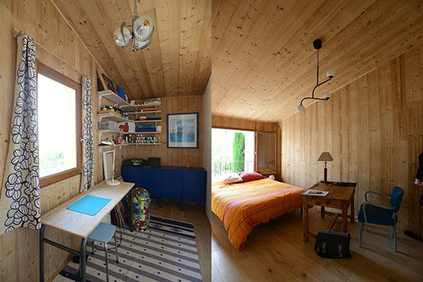 architecture, Mison, bardage  bois douglas