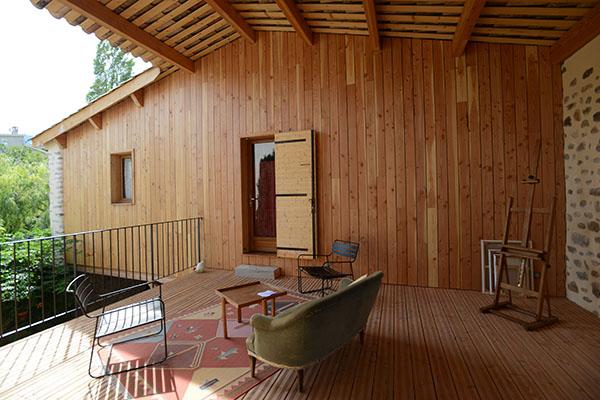 architecture, 04, extension isolation laine de bois