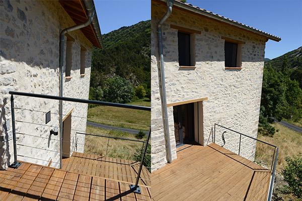 Architecte,Laragne, Hautes Alpes, 05, terrasse en bois