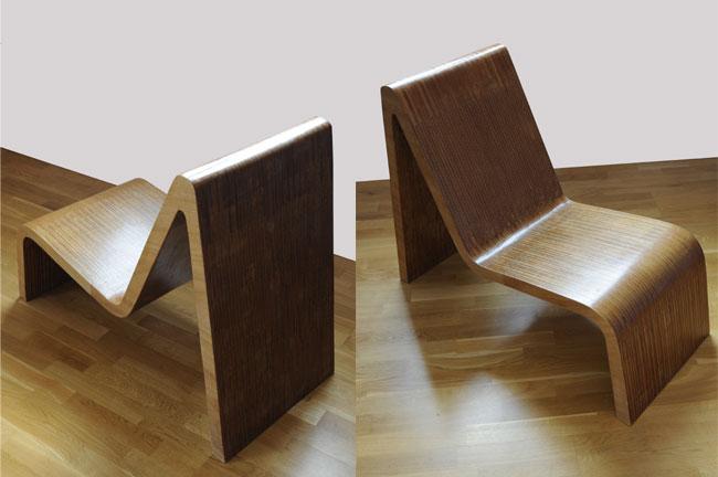 Design: création d'un fauteuil en bois, Laragne